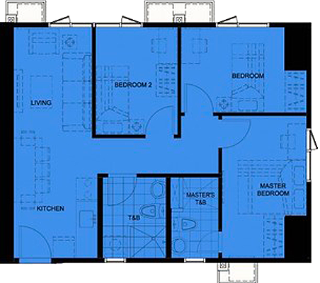AVIDA Towers Turf BGC Taguig Condo 3-bedroom unit