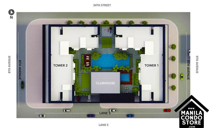 AVIDA Towers Turf BGC Taguig Condo Site Development Plan