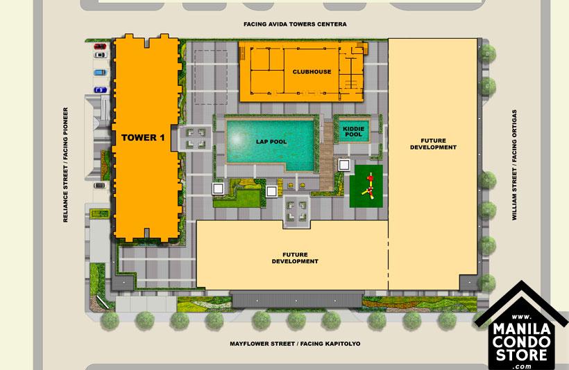 Avida Towers Verge Mandaluyong Condo Site Development Plan
