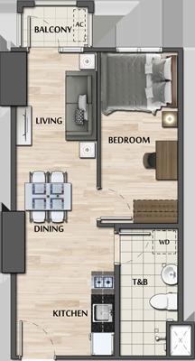 Avida Towers Verge Mandaluyong Condo 1-bedroom unit