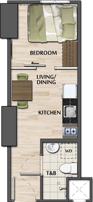 Avida Towers Verge Mandaluyong Condo Junior 1-bedroom unit