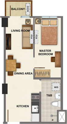 AVIDA Towers Vireo Arca South Condo 1-bedroom unit