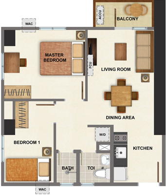 AVIDA Towers Vireo Arca South Condo 2-bedroom unit