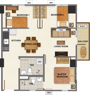AVIDA Towers Vireo Arca South Condo 3-bedroom unit