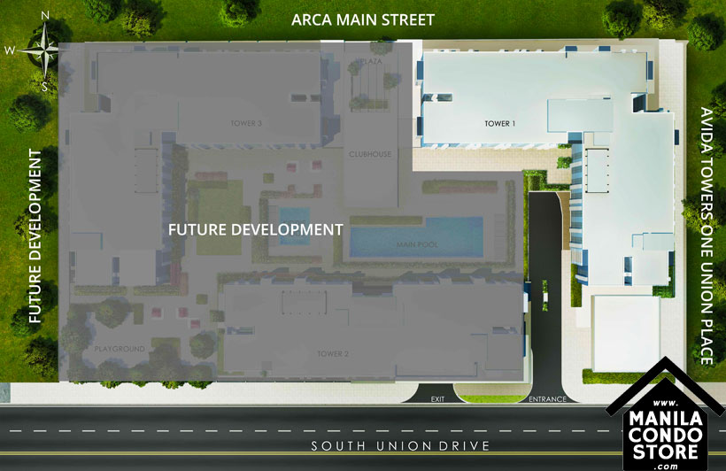 AVIDA Towers Vireo Arca South Condo Site Development Plan