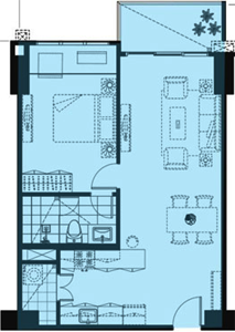 Alveo High Park Vertis North Quezon City Condo 1-bedroom unit