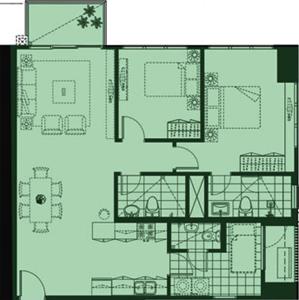 Alveo High Park Vertis North Quezon City Condo 2-bedroom unit