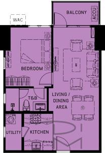 Alveo Orean Place Vertis North Quezon City Condo 1-bedroom unit