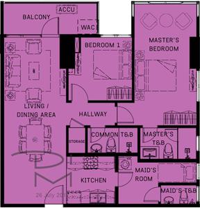 Alveo Orean Place Vertis North Quezon City Condo 2-bedroom unit
