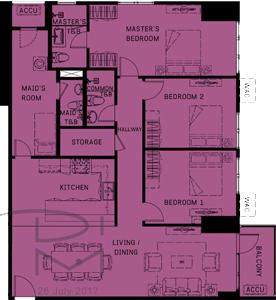 Alveo Orean Place Vertis North Quezon City Condo 3-bedroom unit
