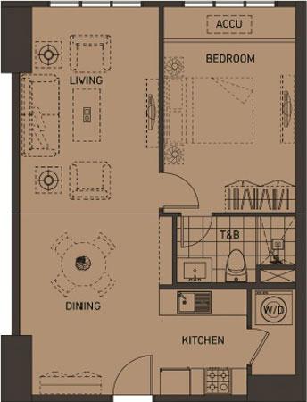 Alveo Portico Pasig Condo 1-bedroom unit