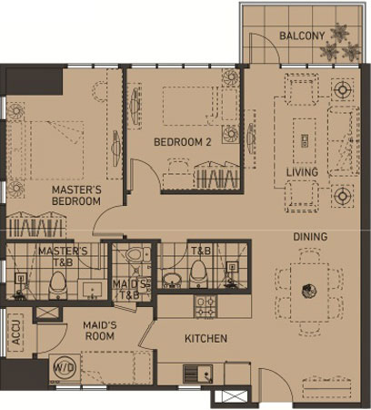 Alveo Portico Pasig Condo 2-bedroom unit