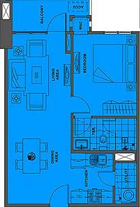 Alveo Solstice Circuit Makati Condo 1-bedroom unit