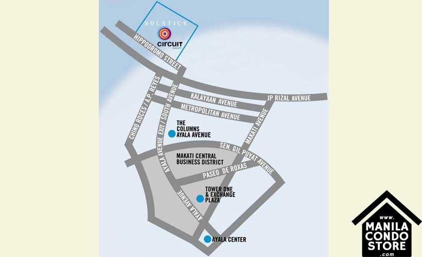 Alveo Solstice Circuit Makati Condo Location Map