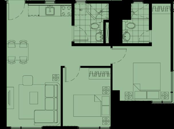 Avida Towers Altura Alabang Muntinlupa Condo 2-bedroom unit