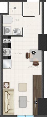 Avida Towers Ardane Alabang Muntinlupa Condo Studio unit