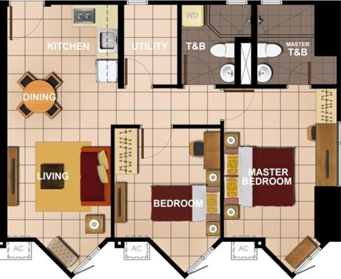 Avida Towers Intima Paco Manila Condo 2-bedroom unit