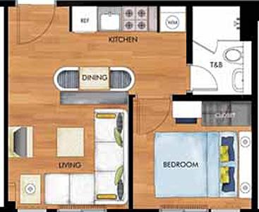 Avida Towers New Manila Condo 1-bedroom unit