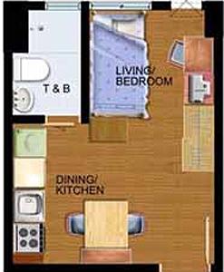 Avida Towers New Manila Condo Studio unit
