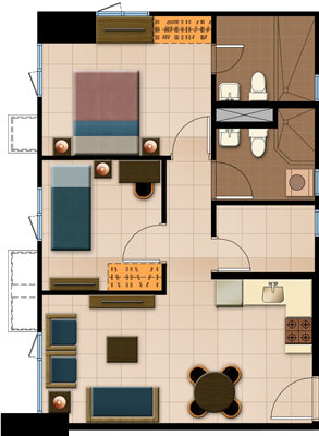 Avida Towers Prime Taft La Salle Manila Condo 2-bedroom unit