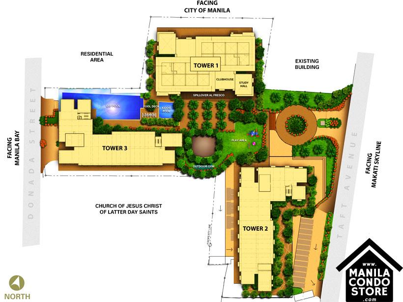 Avida Towers Prime Taft La Salle Manila Condo Site Development Plan