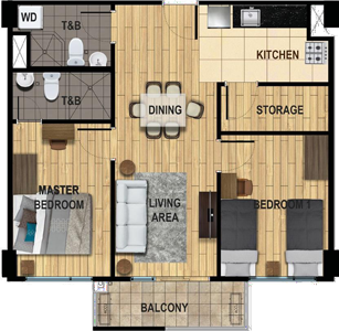 Avida Towers Two Antonio Makati Condo Family Unit 1