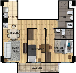 Avida Towers Two Antonio Makati Condo Family Unit 2
