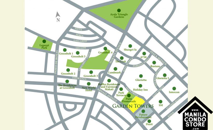 Ayala Land Premier Garden Towers Ayala Makati Condo Location Map