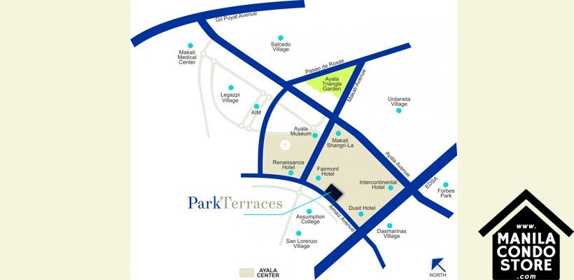 Ayala Land Premier Park Terraces Ayala Makati Condo Location Map