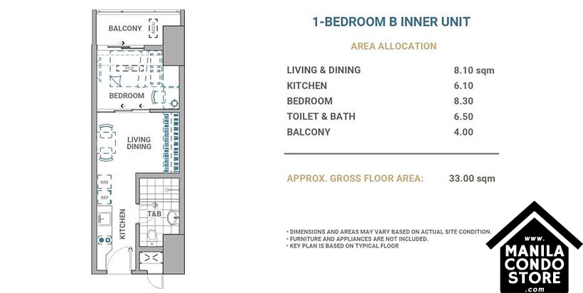 DMCI Homes Allegra Garden Place Pasig Boulevard Condo 1-bedroom unit B