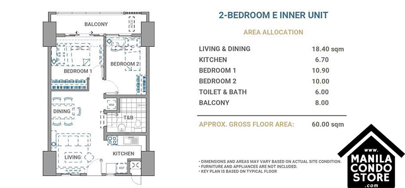 DMCI Homes Allegra Garden Place Pasig Boulevard Condo 2-bedroom unit E