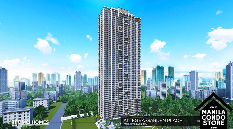 DMCI Homes Allegra Garden Place Pasig Boulevard Condo Building Facade