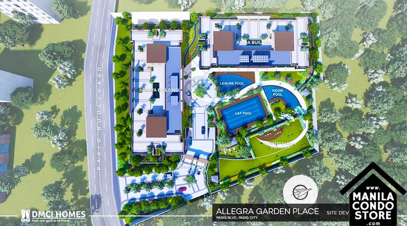 DMCI Homes Allegra Garden Place Pasig Boulevard Condo Site Development Plan