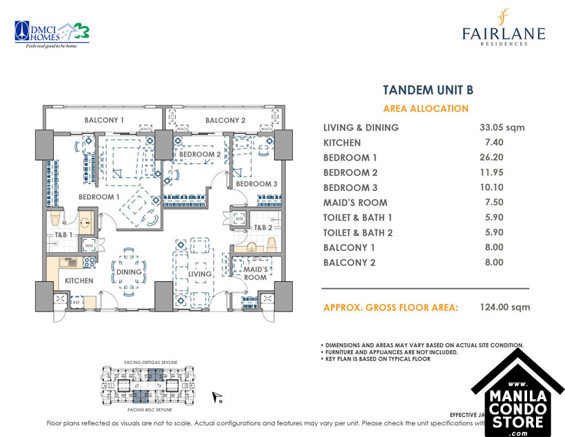DMCI Homes FAIRLANE Residences Kapitolyo Pasig Condo Tandem units