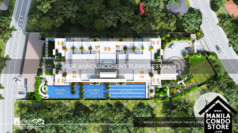 DMCI Homes Fairlane Residences Kapitolyo Pasig Condo Site Development Plan