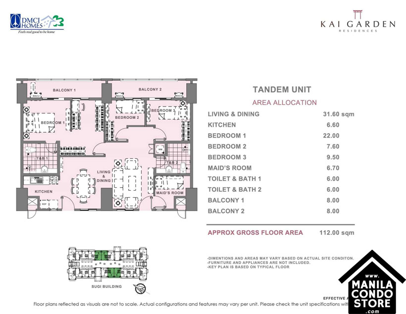 DMCI Homes KAI GARDEN Residences Mandaluyong Condo Tandem Units