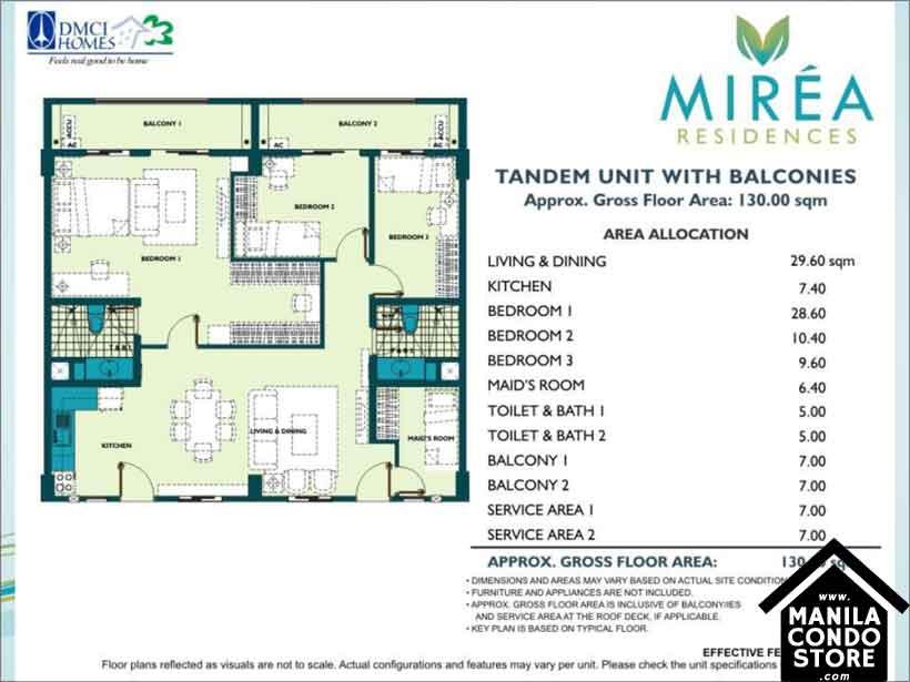 DMCI Homes MIREA Residences Santolan Pasig Condo Tandem Units