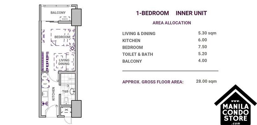 DMCI Homes Sonora Garden Residences Robinsons Las Pinas Condo 1-bedroom