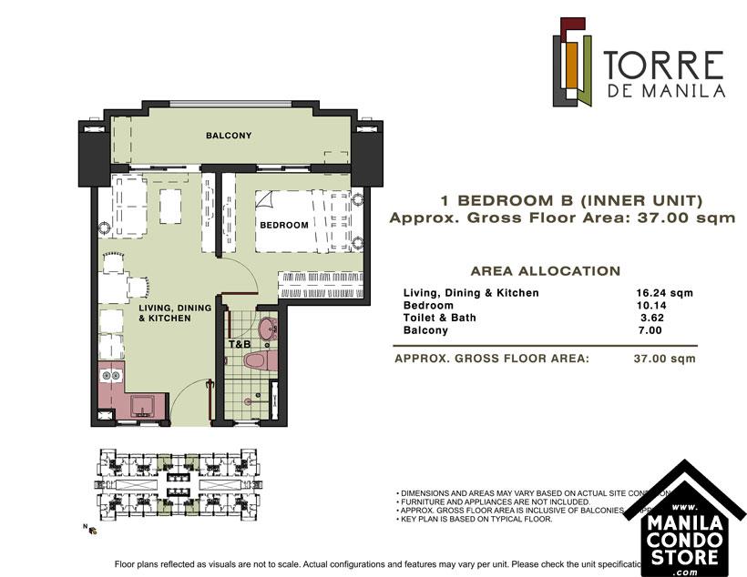 DMCI Homes TORRE DE MANILA Taft Ermita Manila Condo 1-bedroom unit