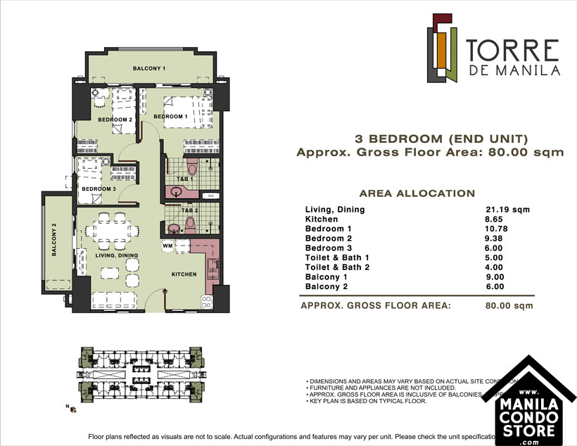 DMCI Homes TORRE DE MANILA Taft Ermita Manila Condo 3-bedroom unit