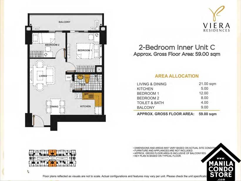 DMCI Homes VIREA Residences Scout Tuason Quezon City Condo 2-bedroom