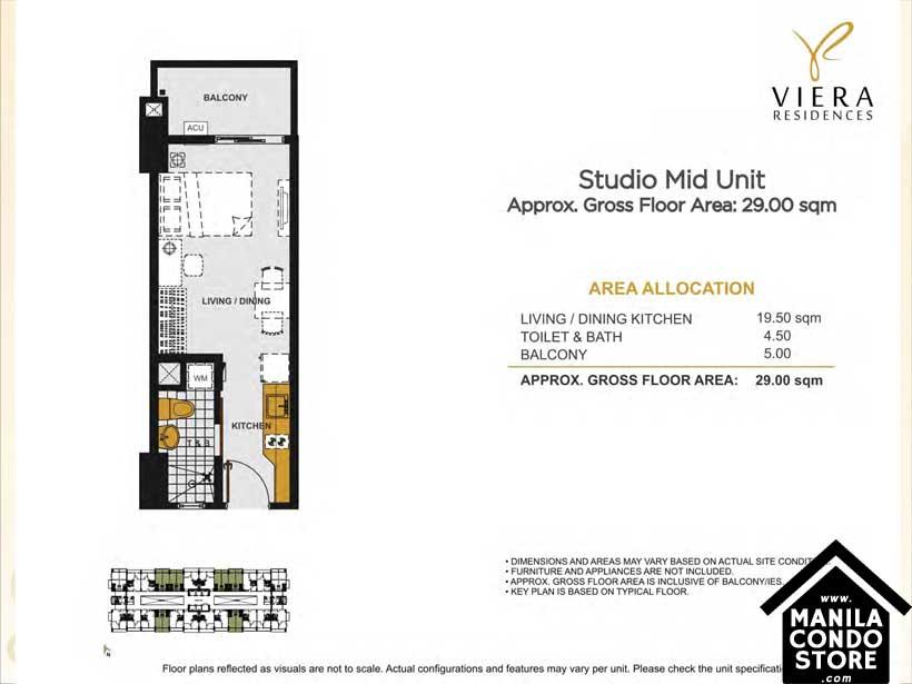 DMCI Homes VIREA Residences Scout Tuason Quezon City Condo Studio Unit
