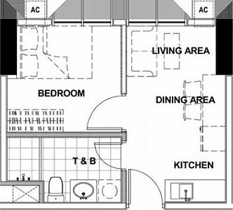 Empire East Highland City Residences Felix Avenue Cainta Rizal Condo 1-bedroom unit