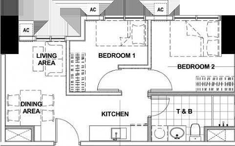Empire East Highland City Residences Felix Avenue Cainta Rizal Condo 2-bedroom unit