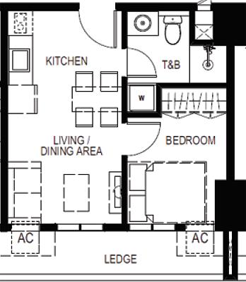 Empire East Mango Tree Residences San Juan City Condo East 1-bedroom suite