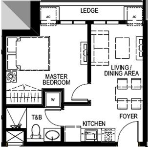 Empire East Mango Tree Residences San Juan City Condo West 1-bedroom unit