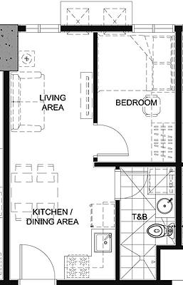 Empire East Pioneer Woodlands Boni MRT Mandaluyong City Condo 1-bedroom unit