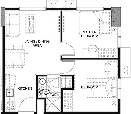 Empire East Pioneer Woodlands Boni MRT Mandaluyong City Condo 2-bedroom unit