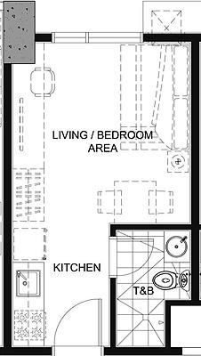 Empire East Pioneer Woodlands Boni MRT Mandaluyong City Condo Studio unit