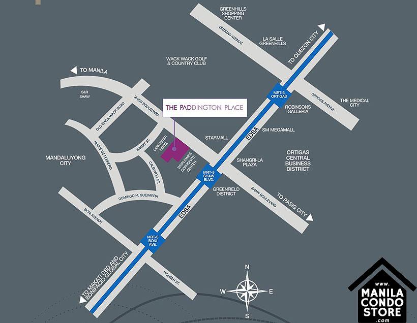 Empire East The Paddington Place Shaw Boulevard Mandaluyong Condo Location Map